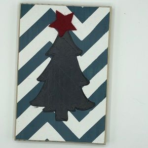 Christmas Tree sign on chevron